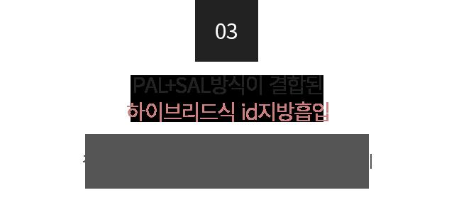 PAL+SAL방식이 결합된 하이브리드식 id지방흡입